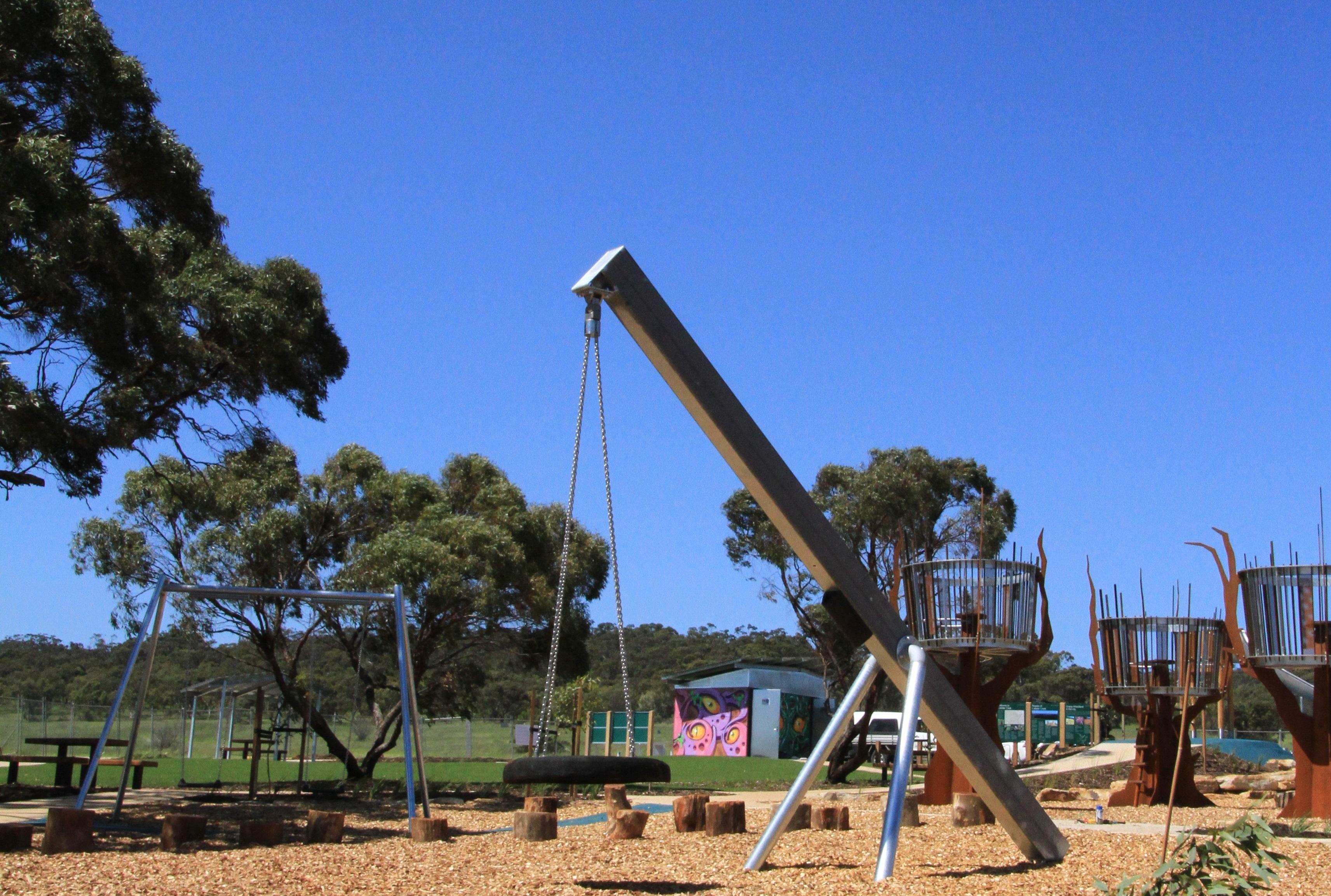 3 Raptor-themed playground