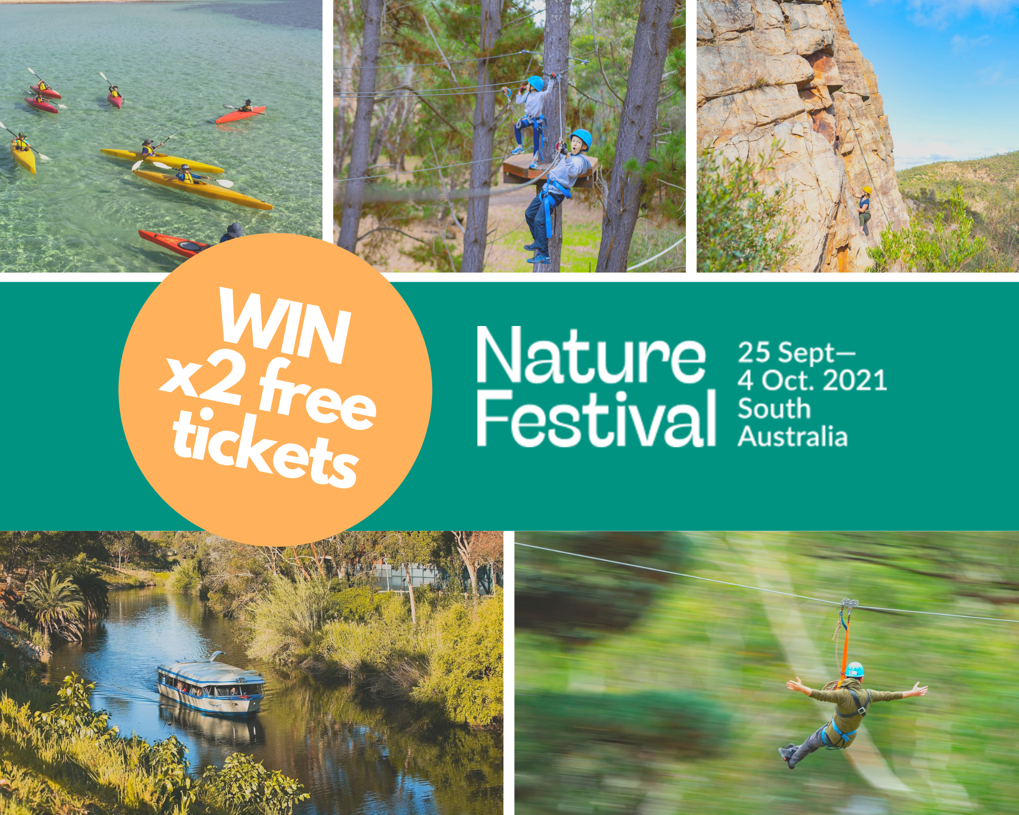 Enter now to win free tickets to Adelaide's Nature Festival - Green Adelaide