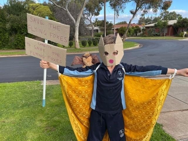 Eight-year-old Amos loves grey-headed flying-foxes